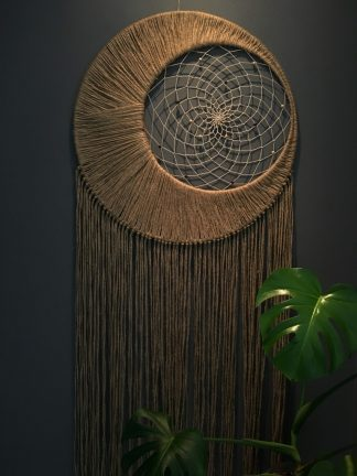 jute macrame moon dreamcatcher
