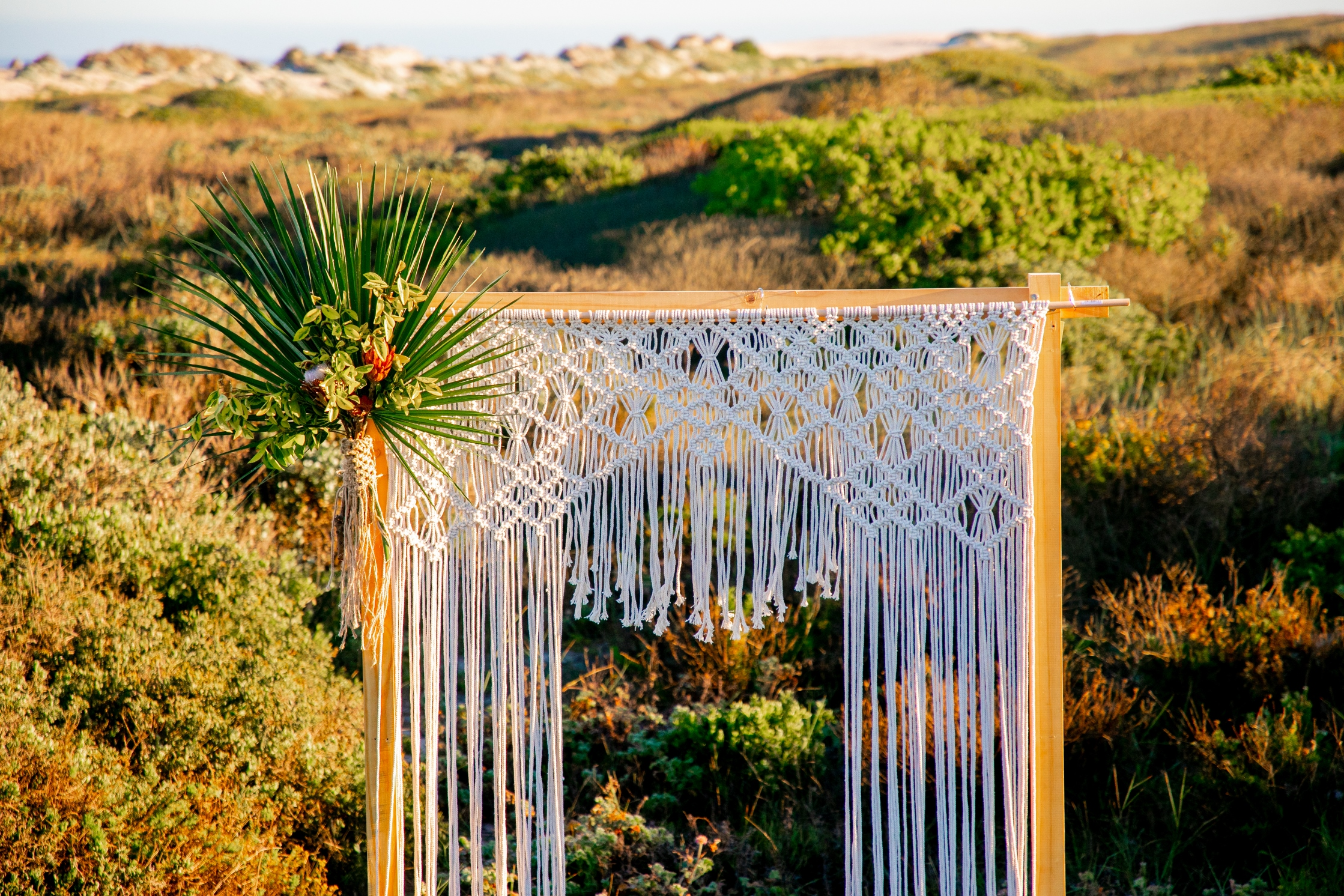 the belle macrame wedding backdrop