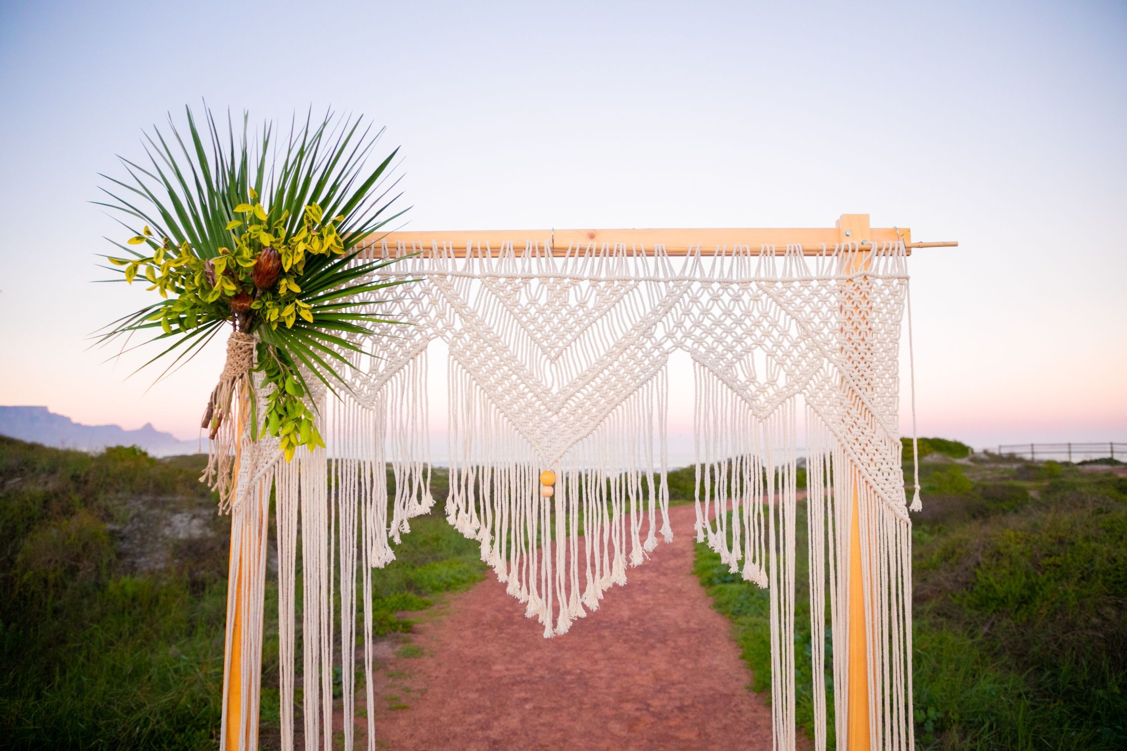 the donna macrame wedding backdrop rental