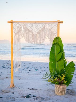 Natural Macrame Wedding Backdrop