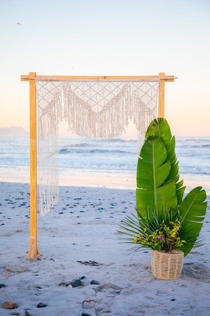 Natural Macrame Wedding Backdrop