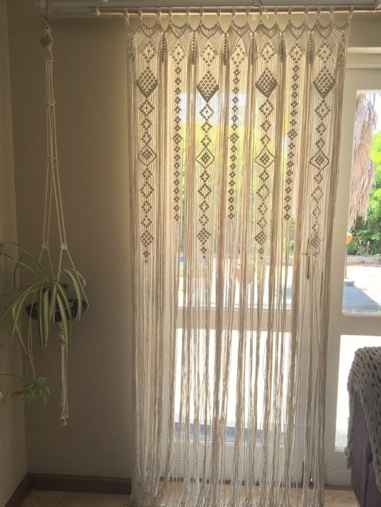 macrame door curtain