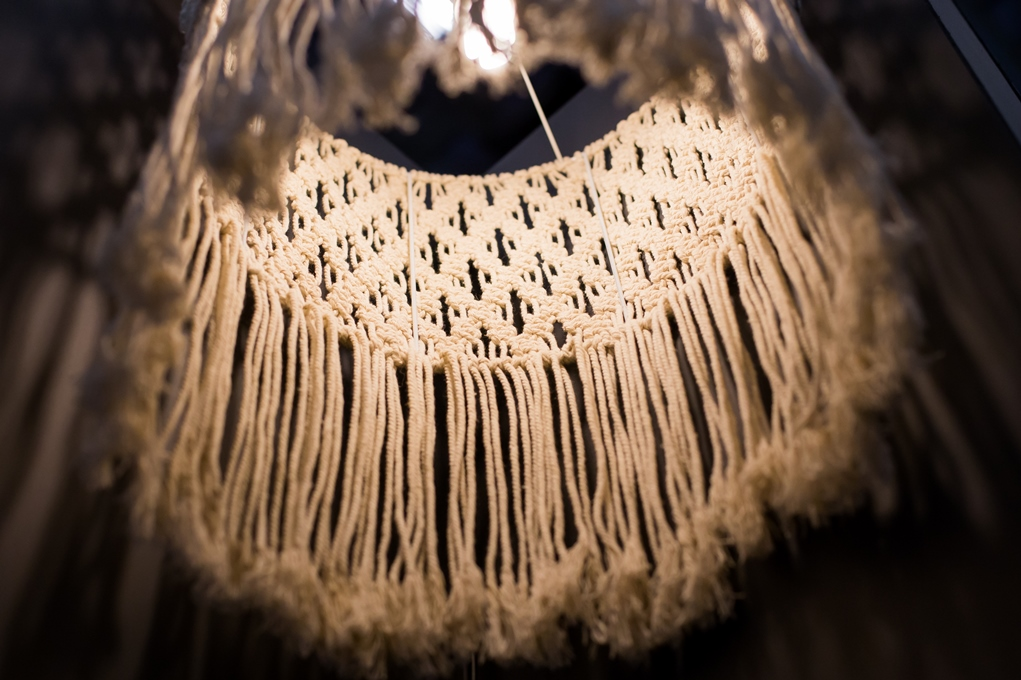 no negative macrame lampshade