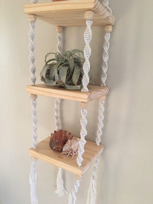 macrame shelf