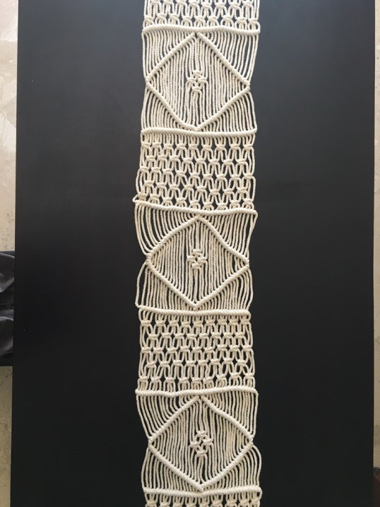 macrame tablerunner