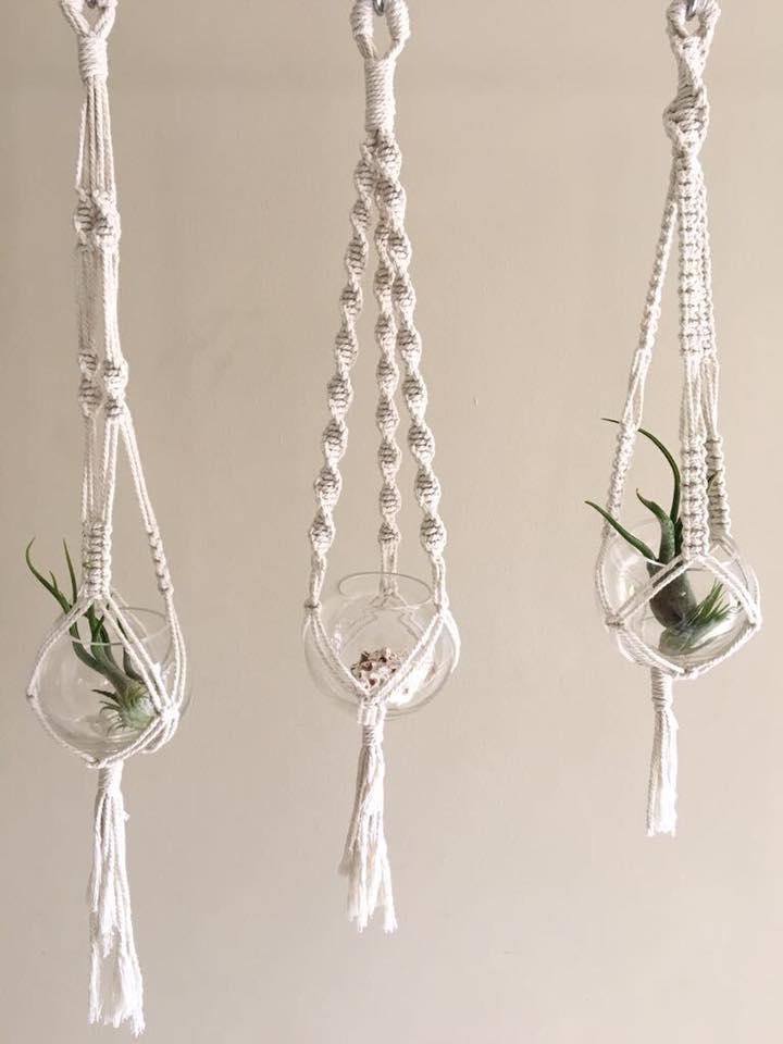 plant hanger macrame workshop
