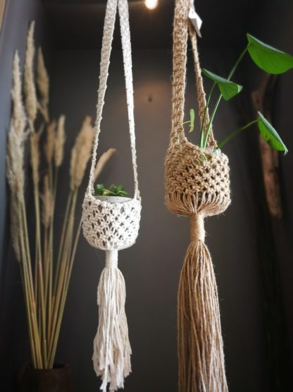 jute and cotton plant baskets
